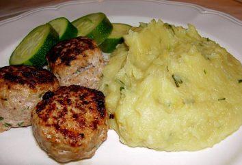 Purê de batatas com almôndegas e molho – um prato saudável e muito saboroso