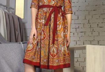 robe moderne dans le style russe, broderie, accessoires