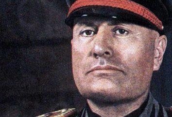 Benito Mussolini: biografia, polityka, rodzina. Najważniejsze daty i wydarzenia z jego życia