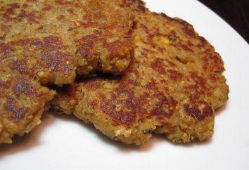 hamburgers délicieux et juteux fabriqués à partir de l'aubergine: recette pas à pas