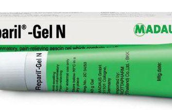 """""""Reparil-gel"""": instrukcje użycia, wskazania, recenzje"""