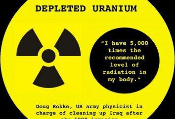 uranium appauvri: la description et de l'application