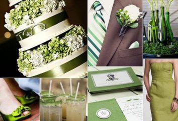 Ślub w kolorze zielonym: pomysłów, dekoracji i zalecenia