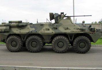 BTR 82A: caractéristiques, avantages, caractéristiques
