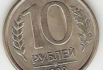 Il valore delle monete 10 rubli 1993