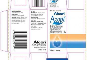 """""""AZOPT"""" (krople do oczu): instrukcję obsługi, analogi, składu i opinie"""