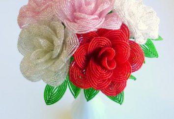 Roses: un diagrama de perlas. Rose Bead tejer: Master Class