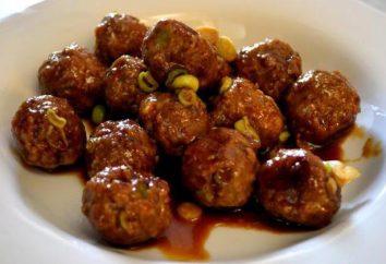 albóndigas sabrosas y deliciosas de carne molida: una variedad de salsas y sutileza de cocina