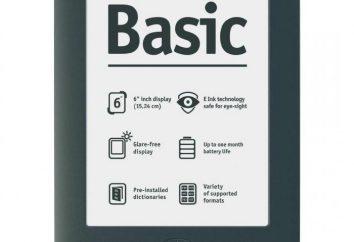 PocketBook 613 Basic Novo: comentários, especificações, manual de instruções