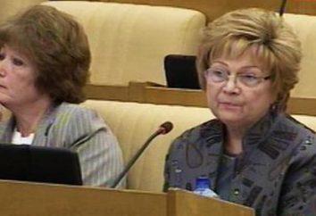 Lyudmila Shvetsova – Vice-président de la Douma d'Etat de la 6e convocation. Biographie, carrière, famille