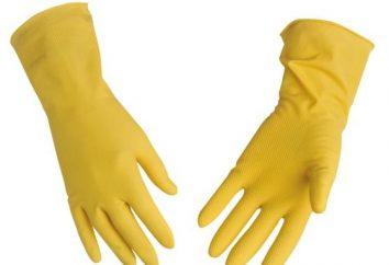 Accessoire nécessaire pour les devoirs – gants en caoutchouc