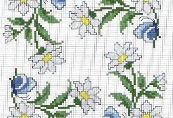 Wybierz piękny kwiat wykres muliną