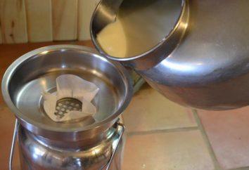 Aparato separador de leche. manual, eléctrica separador