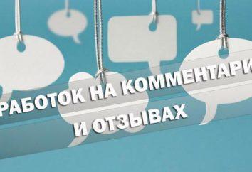 Las ganancias en los comentarios y retroalimentación. Internet a tiempo parcial