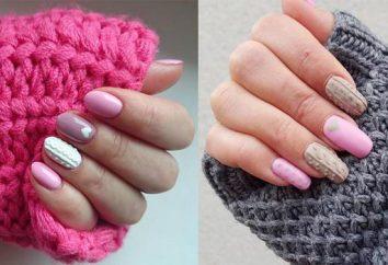 Maglione design del chiodo. Come creare un elegante manicure a maglia?
