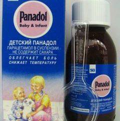 """Droga """"Baby Panadol"""": instruções de uso"""