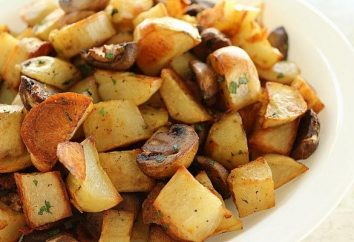 Gebratene Kartoffeln mit Pilzen im Multivarquet: ein Schritt-für-Schritt-Rezept