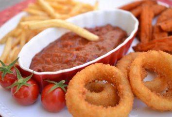Ketchup à la maison avec des pommes assaisonnement doux pour l'hiver