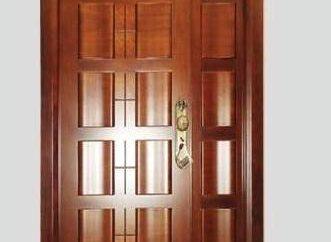 Die vordere Haustür: der Zweck und die Art des Schutzes