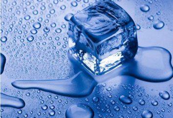 Cristallisation et le calendrier fonte des changements dans l'état global de la substance