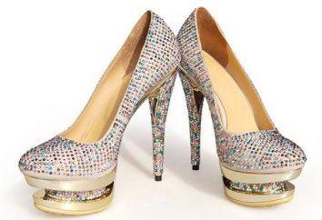 Sapatos com strass: para os fashionistas mais ousadas