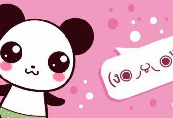 Japońskie emotikony symboli i tekstu. Japońskie emotikony kaomodzi