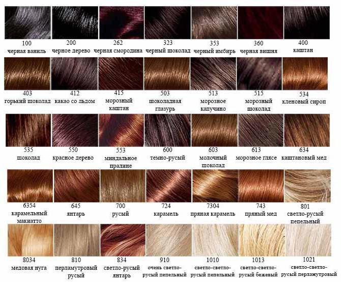 Palette couleur cheveux inoa