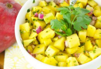 Przepisy sałatek z mango. Mango z kurczakiem. Mango z krewetkami