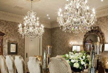 Il lampadario in interni soggiorno. Lampadari in un interno moderno