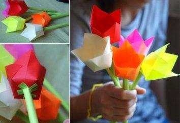 Como fazer uma flor para a mãe?
