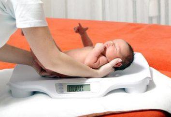 Gewichtszunahme bei Kindern durch Monat: die Normen der Entwicklung von Kindern bis zu einem Jahr