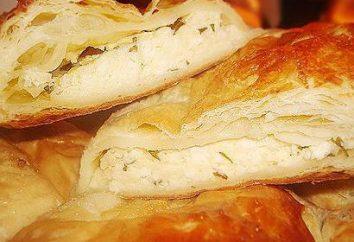 Torta de capa con queso Adygei: un paso a paso receta