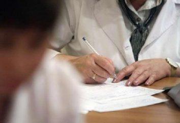 El procedimiento de registro de un certificado médico a la piscina y la universidad