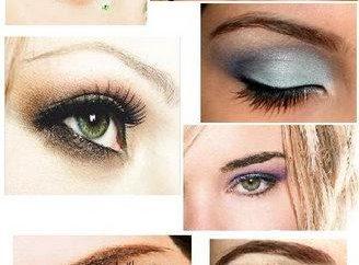 Wählen Sie Make-up für Brünetten mit braunen Augen
