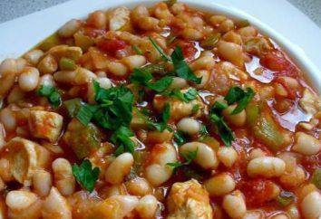 Fagioli con pollo in salsa di pomodoro. ricette