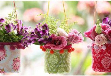 Doniczki z plastikowych butelek: z rękami zrobić ciekawy wystrój ogrodu