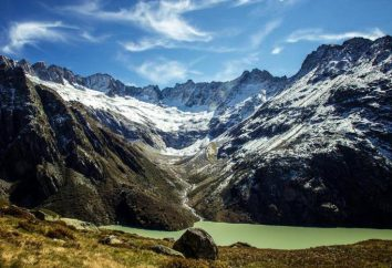 plegamiento alpino: formar características. plegado de montaña de los Alpes
