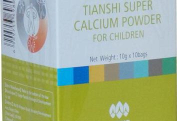 """Le calcium Tianshi"": Description et composition"