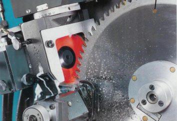 máquina caseira para afiar serras circulares: especificações técnicas e diagramas