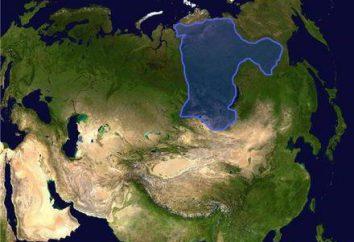 A forma do relevo da plataforma siberiana. Os minerais da plataforma siberiana