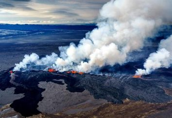 volcan islandais en cours et en sommeil