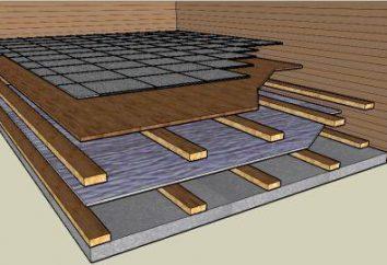 Comment isoler les planchers dans l'appartement? Isolation pour plancher en bois. Chauf./sol