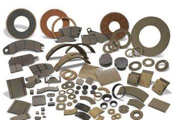 material de fricción: requisitos de elección