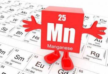 Manganèse pour le corps humain: le rôle des normes, les avantages et les inconvénients