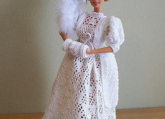 vestido de crochet para la muñeca: las vistas de esquema y recomendaciones
