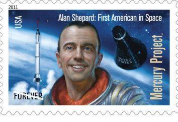 """Pierwszy amerykański astronauta Alan Shepard. Misją """"Mercury-Redstone 3"""" 05 maja 1961"""