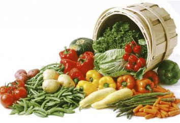 warzywa tabeli kalorii. Wartość energetyczna owoców i warzyw
