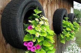 Un letto di fiori del pneumatico con le mani. Come fare un letto di pneumatici con le proprie mani