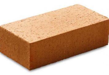 tijolos Zabutovochny: tipos, características, especificações