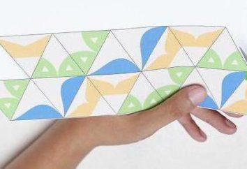 Flexagon cortar. Como fazer um artesanato tridimensionais?